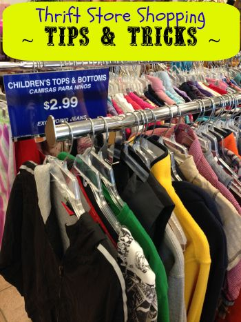 Tips & Tricks for finding Great stuff & name brands at Thrift Stores!