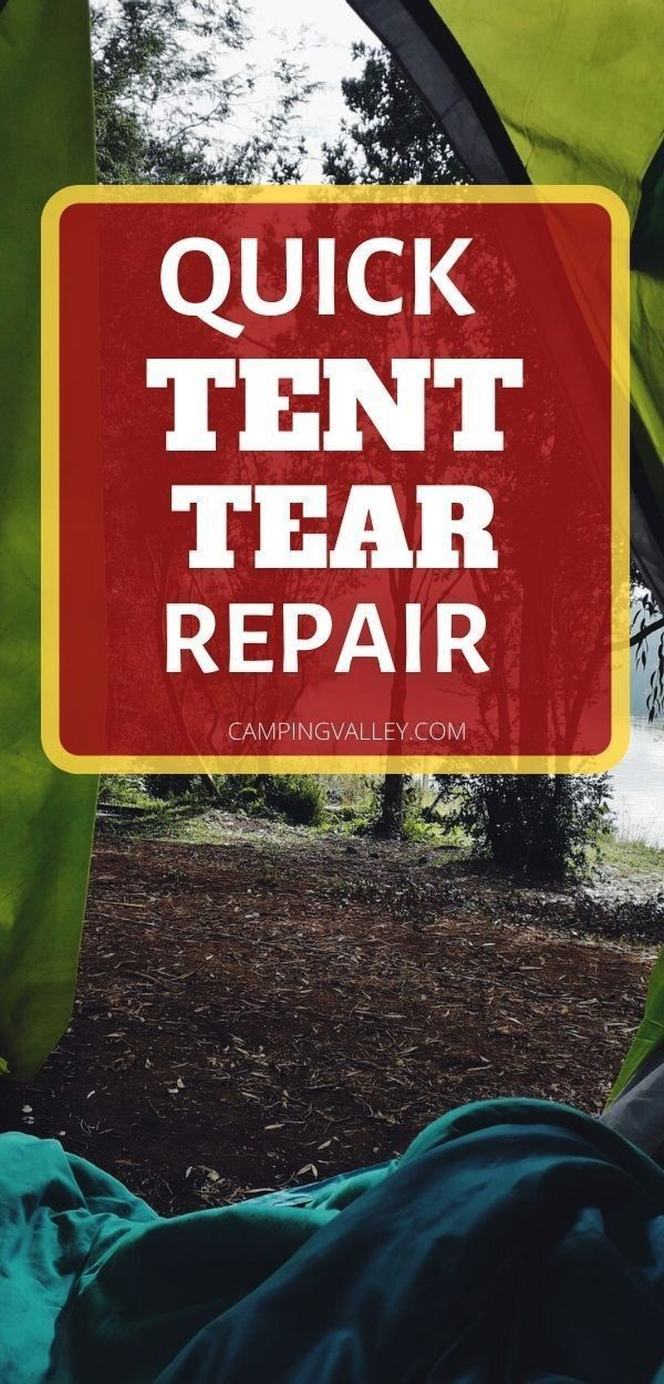 To Repair A Large Tear In A Tent The worst thing that could happen before heading to the campground is to find out that your tent has a tear Check how to repair a large t...