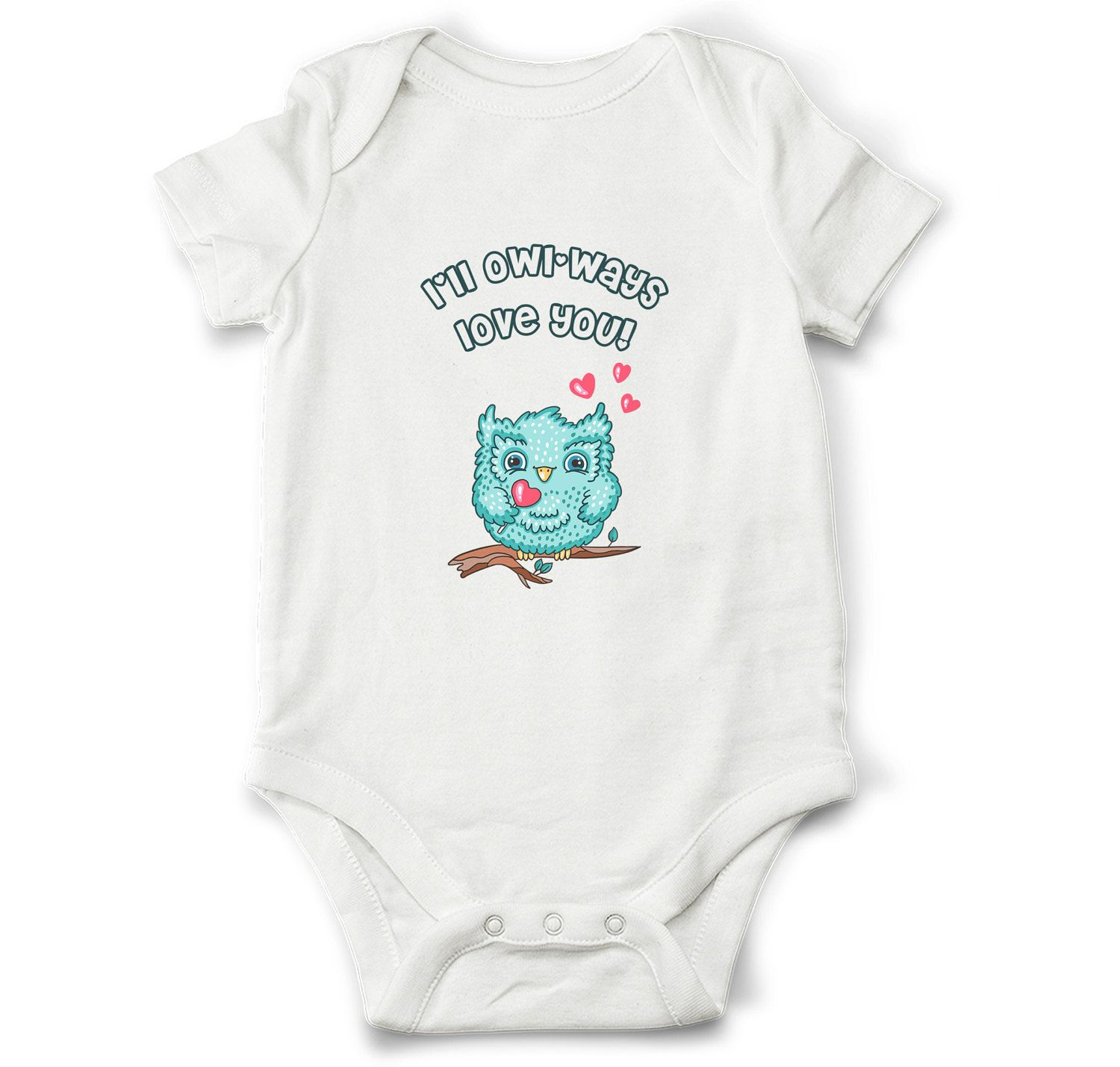 Love Baby Bodysuit, Owl Baby Bodysuit, Cute Baby Clothes, Baby