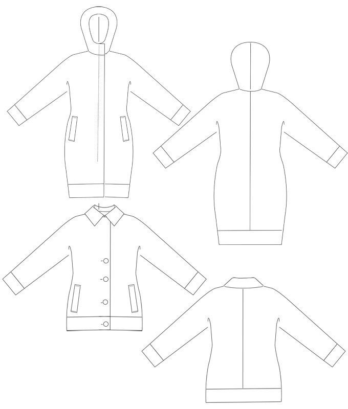 Kimono mantel schnittmuster – Blog für Jacken und Twists