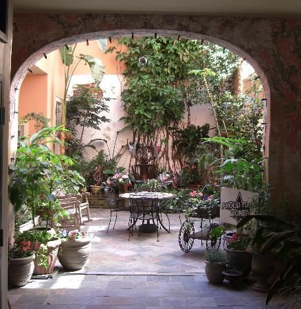 Interior Of French Quarter Apartments New Orleans Courtyard