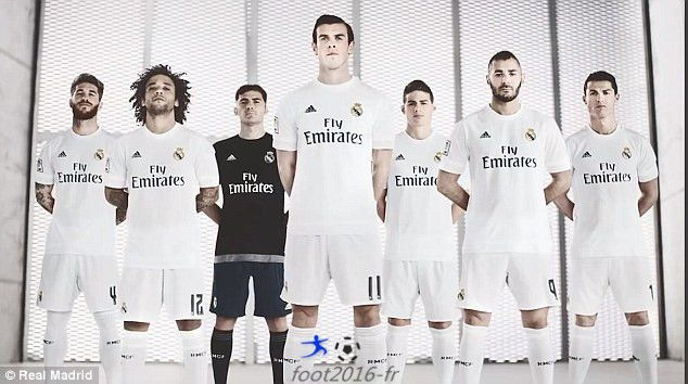 Nouveau Maillot De Foot Real Madrid 2015 2016 Domicile Moins Cher Real Madrid Soccer Shirts Shirts