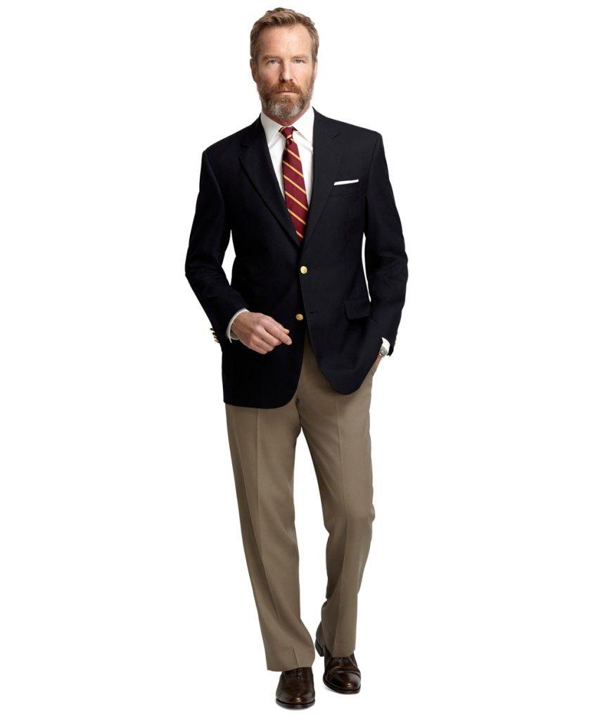 Khaki Pants With Black Suit Jacket