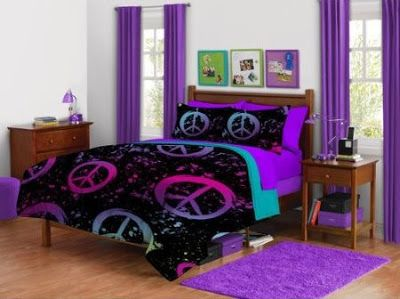 Peace sign bedding for girls peace sign bedding ideas the peace sign is one the most famous - Nice bedrooms for girls purple ...