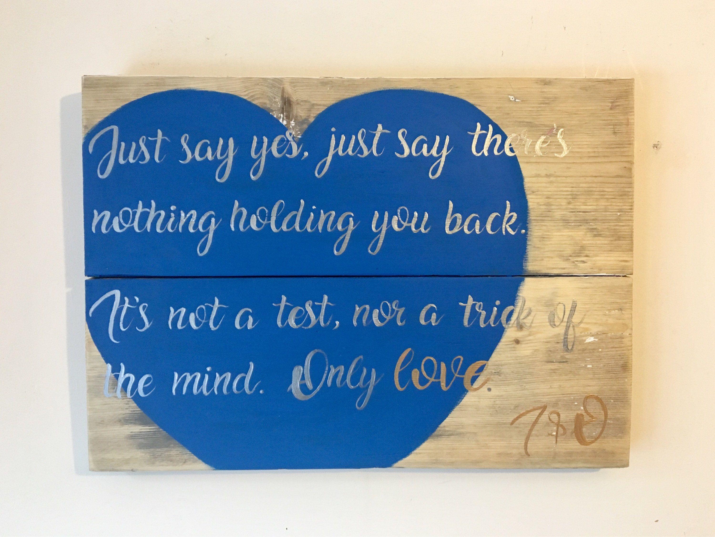 Favourite Song Gift Wedding Song First Dance Song Lyric Art