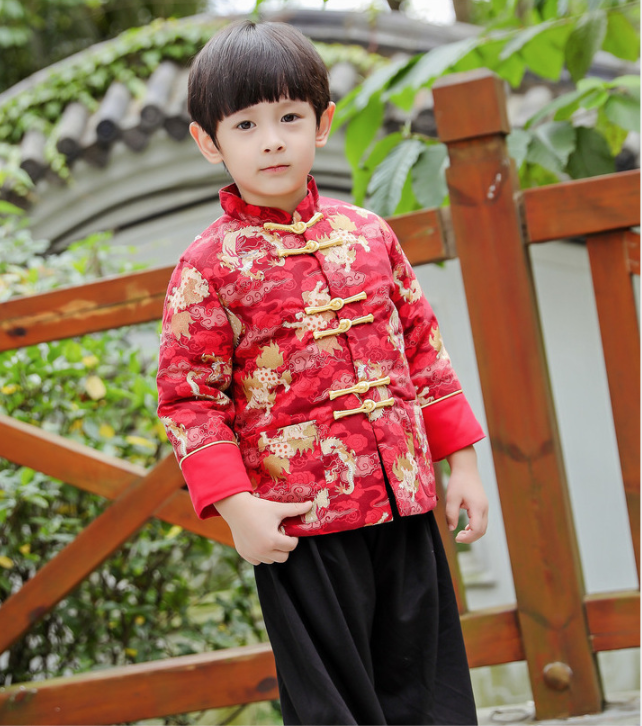 Kids Boy Chinese Oriental Cloth Outfit Set Comfortable Chinese New Year