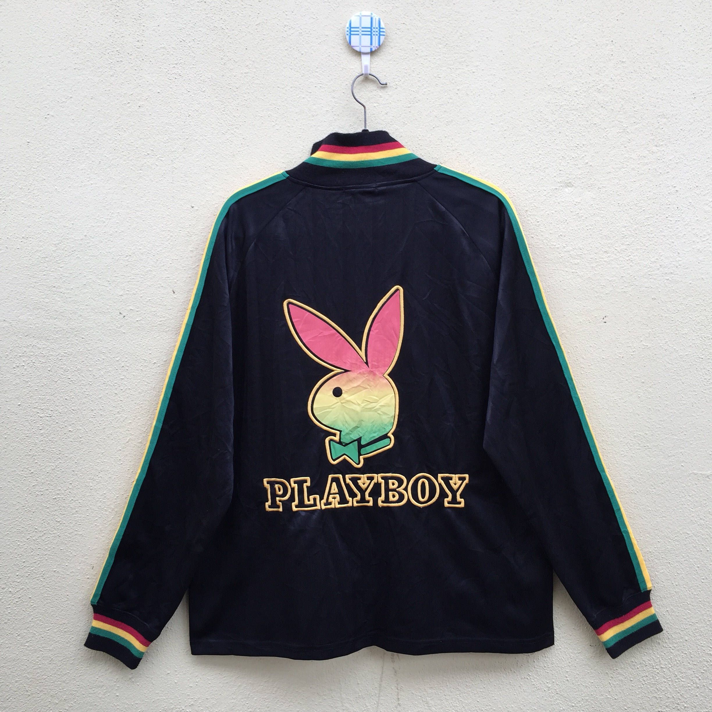 20% OFF Vintage PLAYBOY COLLECTION Zipper Sweatshirt Pullover Big Logo Spell Out Embroidered Size Large NVj2g8eHed