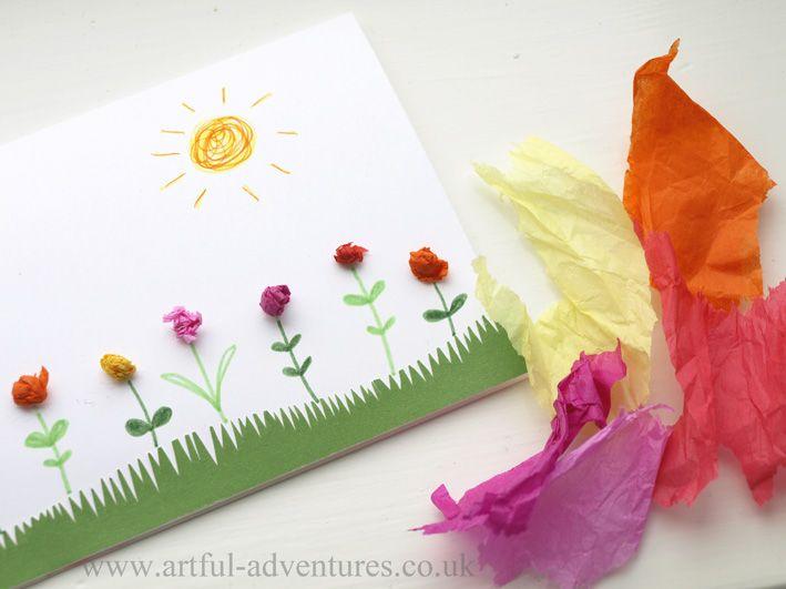 Even More Tissue Paper Cards Mit Bildern Karten Handgemacht