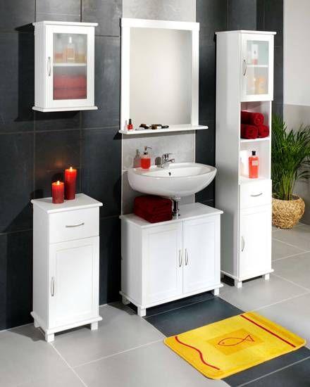Badezimmerset »Justin« (weiß lackiert) Badezimmer Pinterest - d nisches bettenlager badezimmer