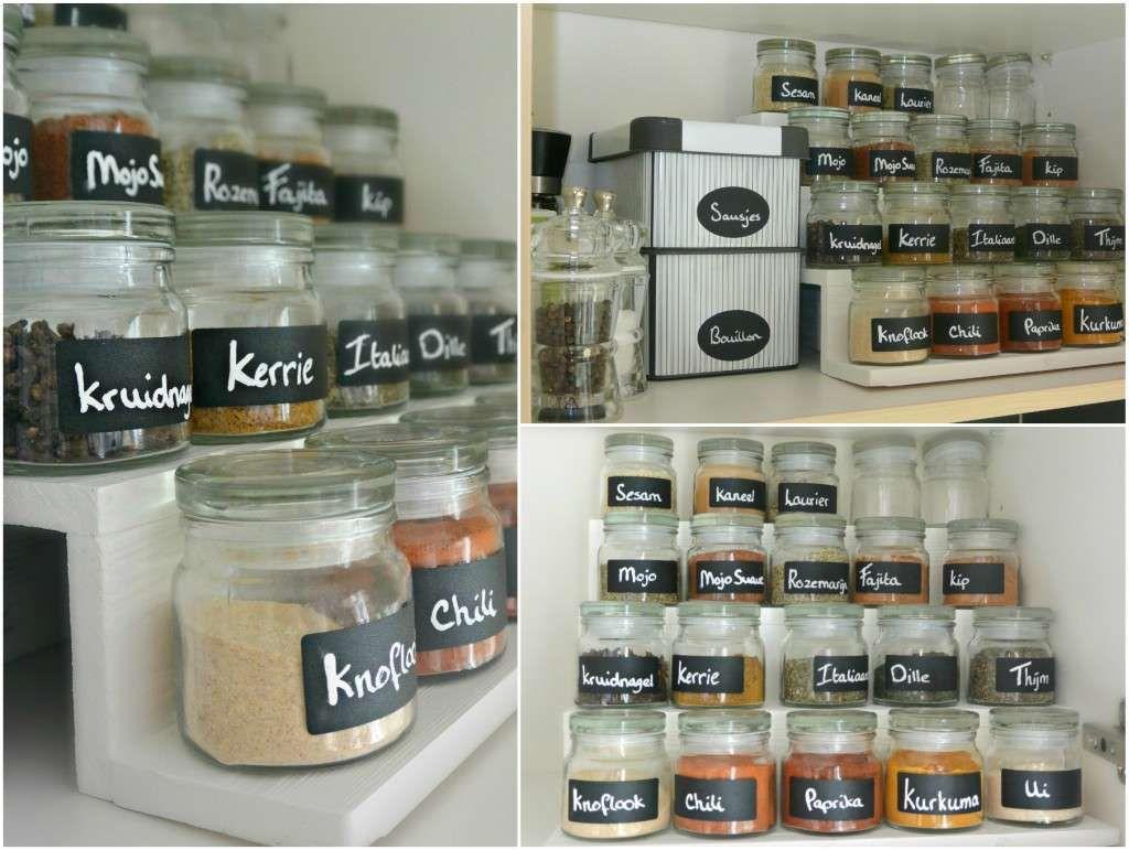 DIY kruidenrek en kruidenpotjes #simplethoughts | kitchen ...