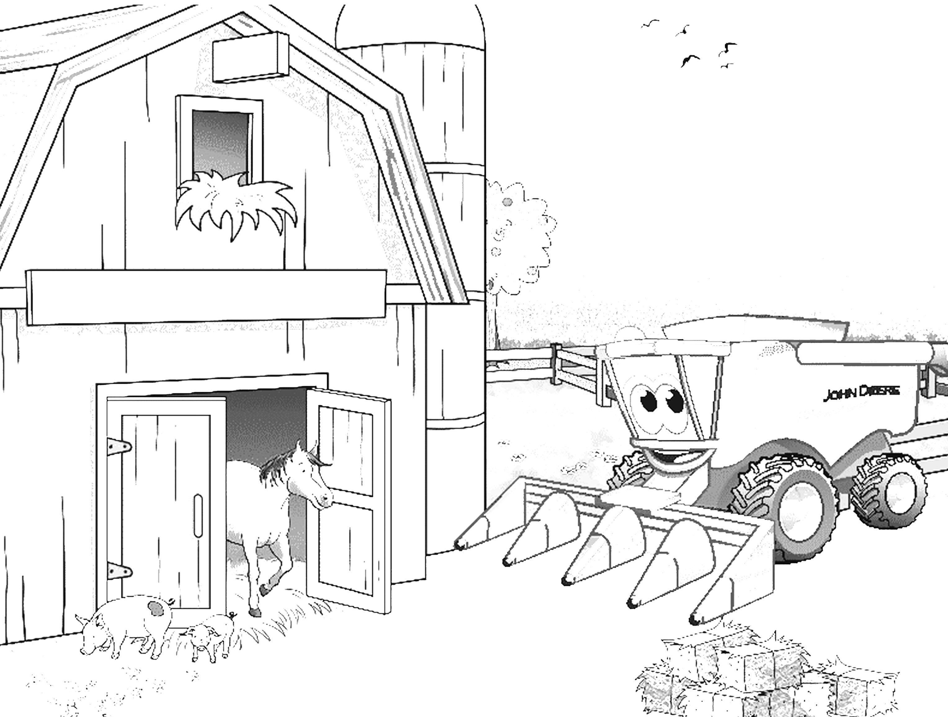 bilder zum ausmalen und ausdrucken traktor  malvorlagen