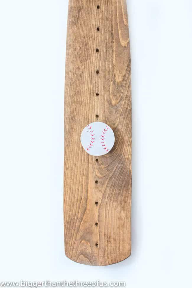 Diy Baseball Bat Growth Chart Baseball Crafts Pinterest