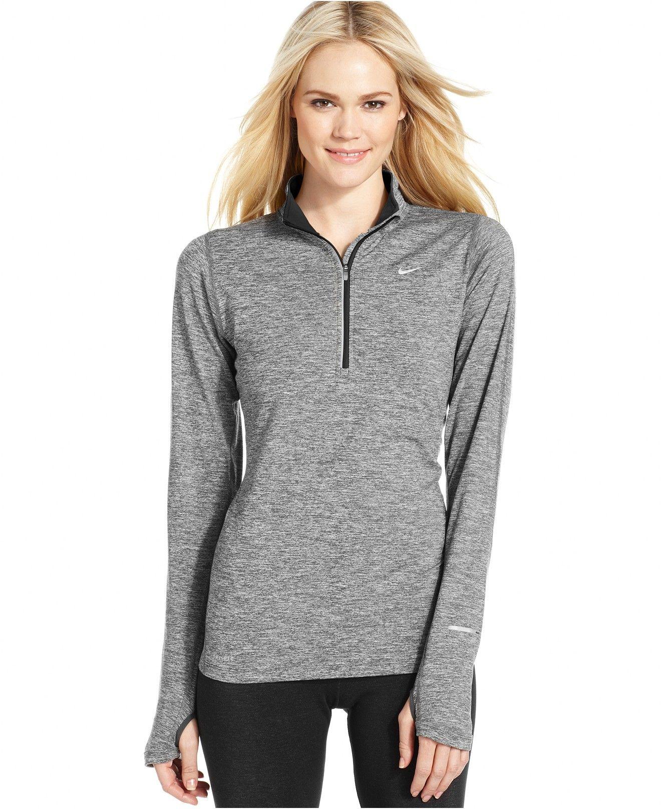 Nike Element Dri FIT Half Zip Pullover Tops Women