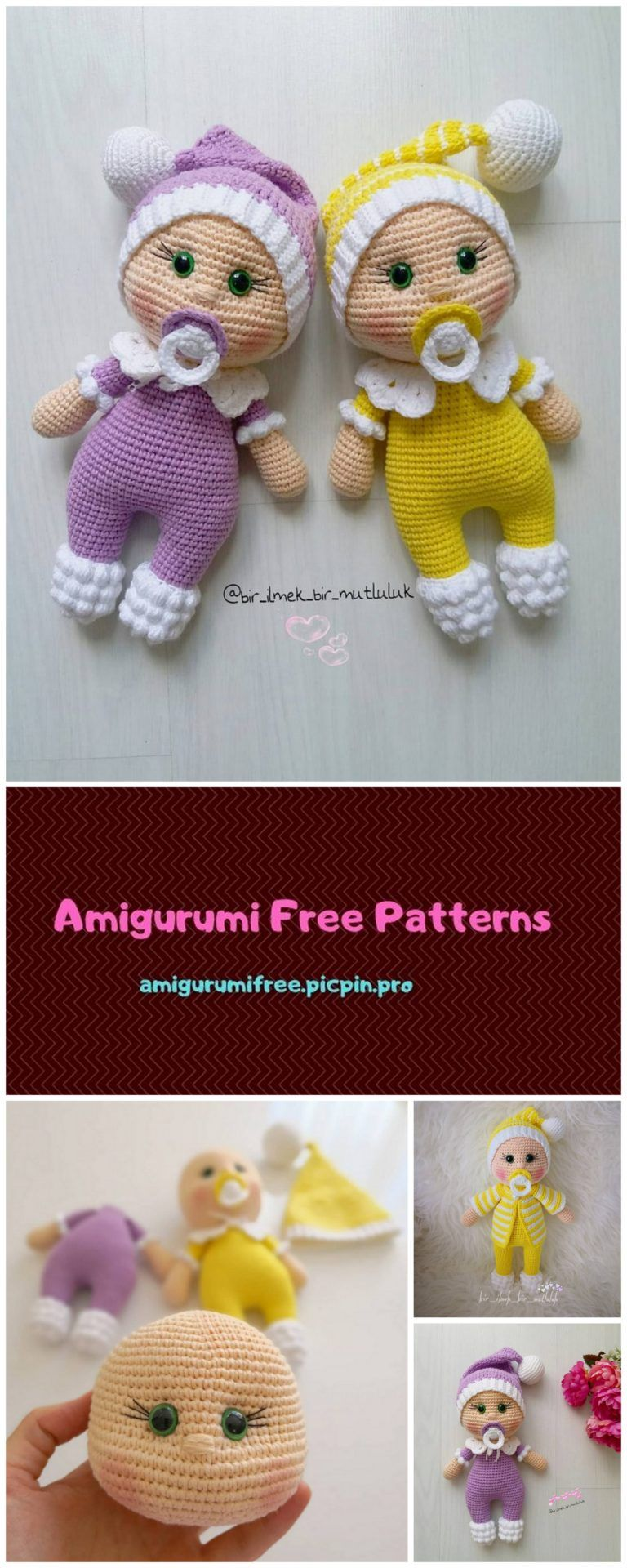 Samyelinin Örgüleri: Amigurumi Doll Pacifier Baby (Free English Pattern) | 1920x768
