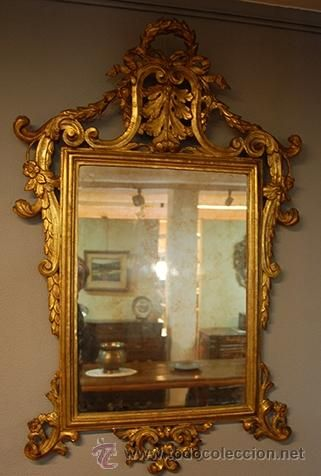 espejo barroco del siglo xviii coleccion muebles