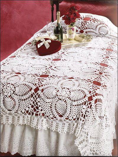 Pineapple Bedspread Table Runner Pinterest Bedspread Crochet