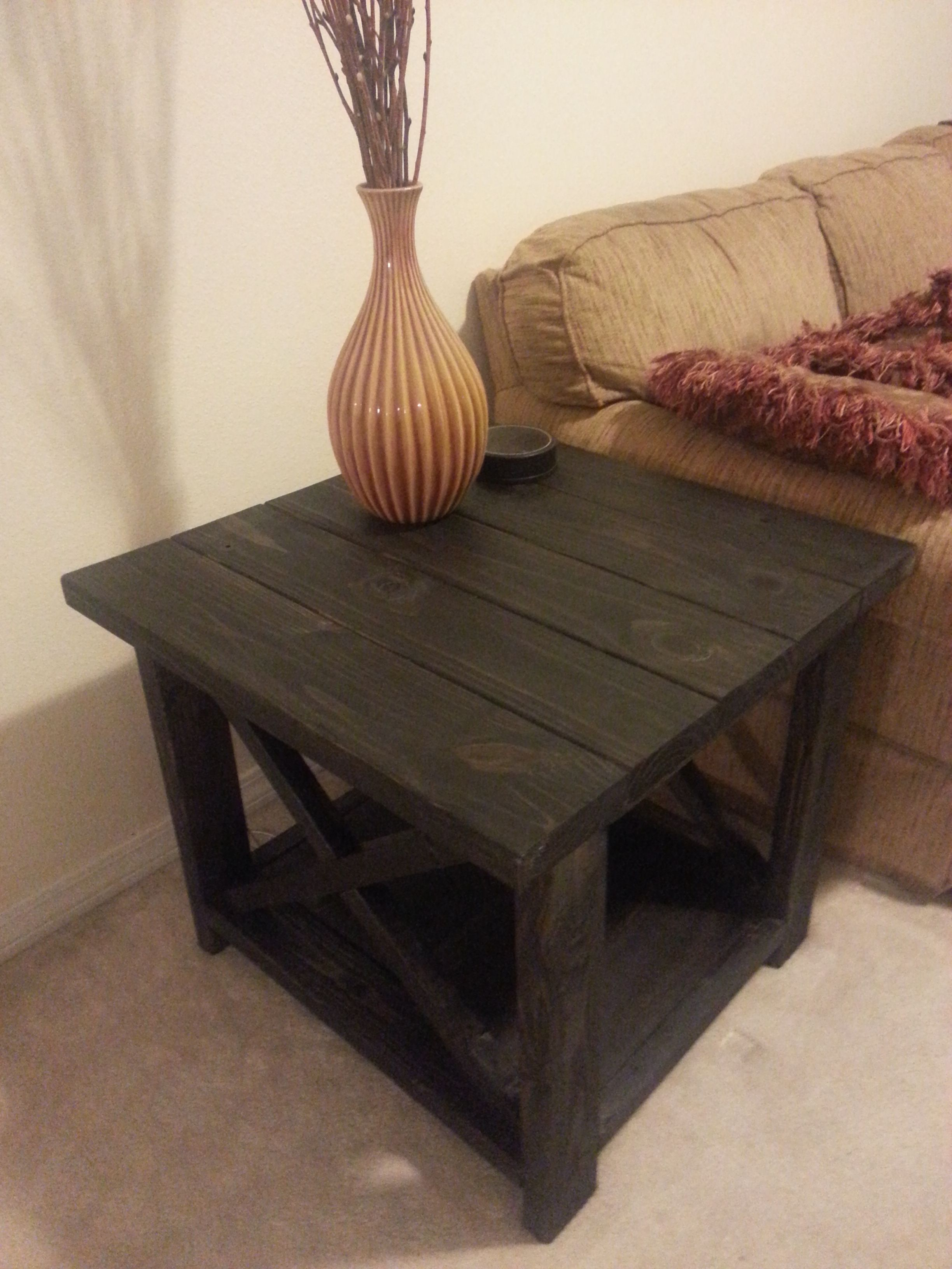 Rustic X End Table Do It Yourself Home Projects From Ana