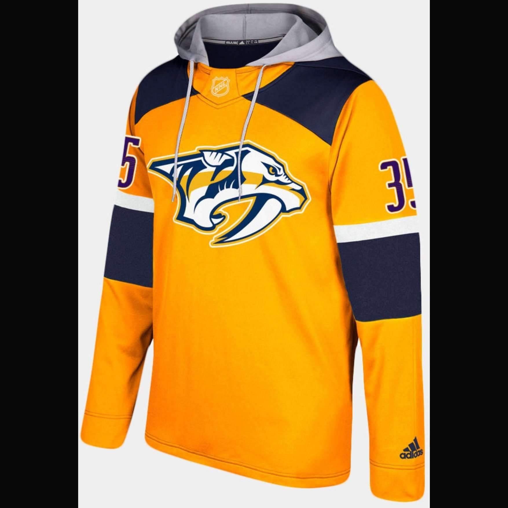 Nashville Predators Adidas NHL Hockey Jersey Style Hoodie