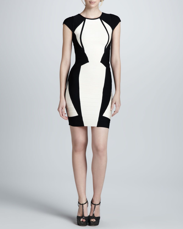 Herve leger twotone bandage dress fashion finds pinterest