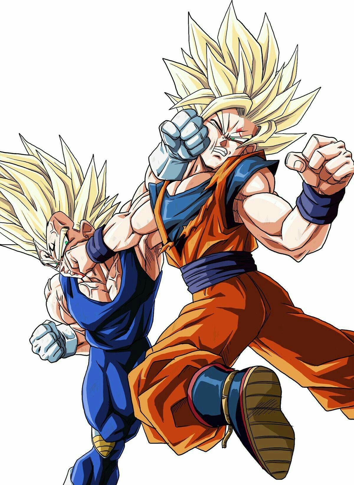 Goku vs. Majin Vegeta - Dragon ball z | Dbz | Dragon ball ...