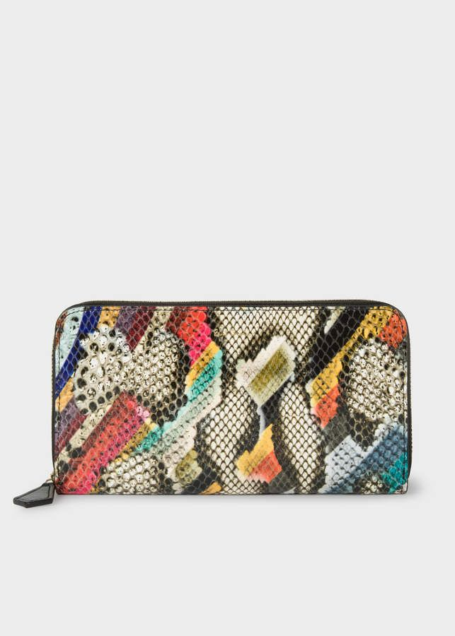 eda6ed9bdefe Paul Smith Women's Large 'Snake Swirl' Print Leather Zip-Around Purse