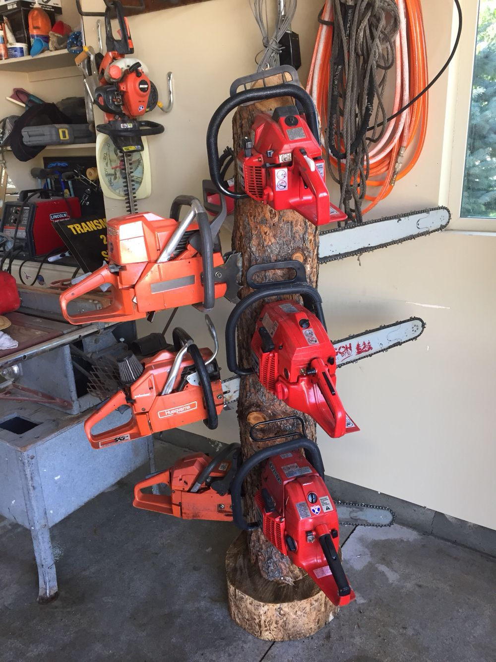 Chainsaw Rack Woodworking Projects Plans Garage Tool