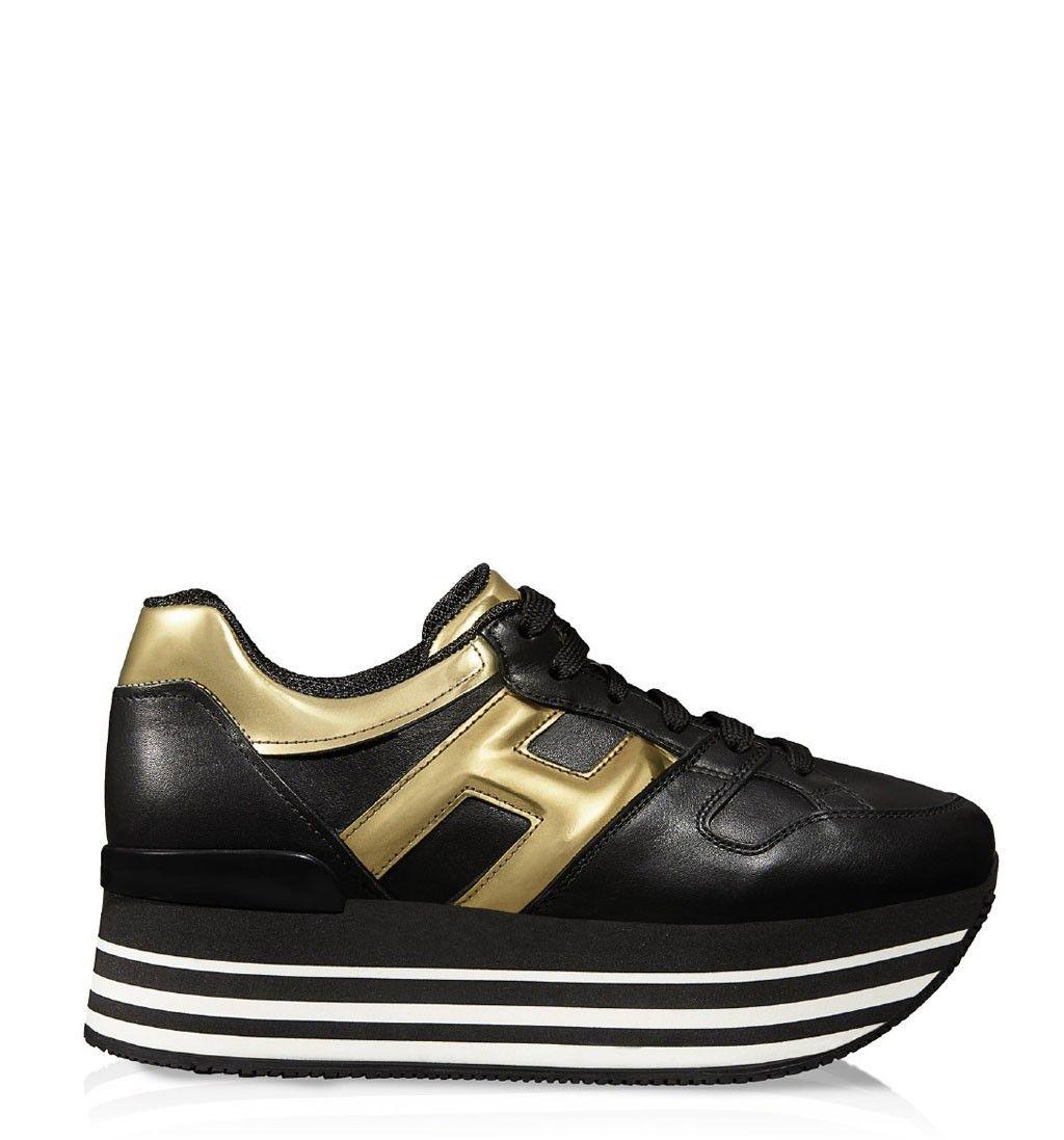 Charming Hogan Interactive Shoes Golden Silver Mode