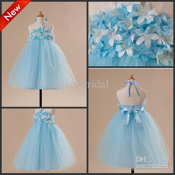 Wholesale CUSTOM Made Cute Blue A-line Toddler Pageant Dress ...