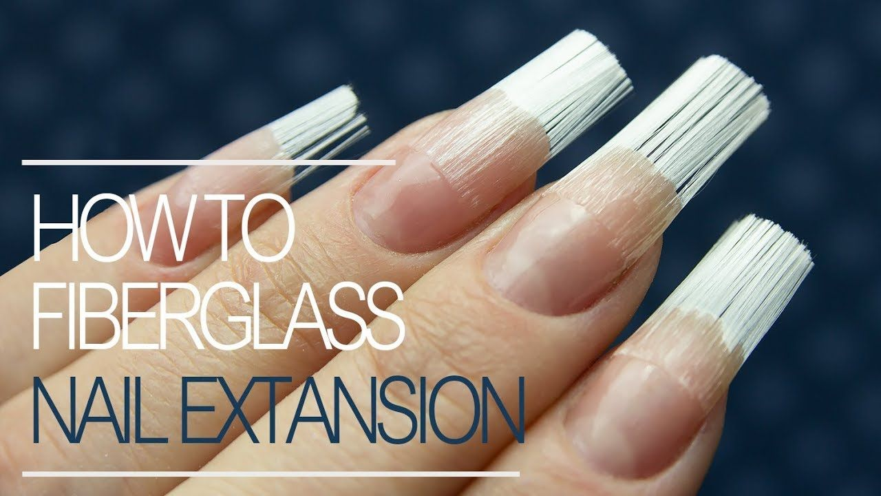 How to do fiberglass nails gel nail extension tutorial