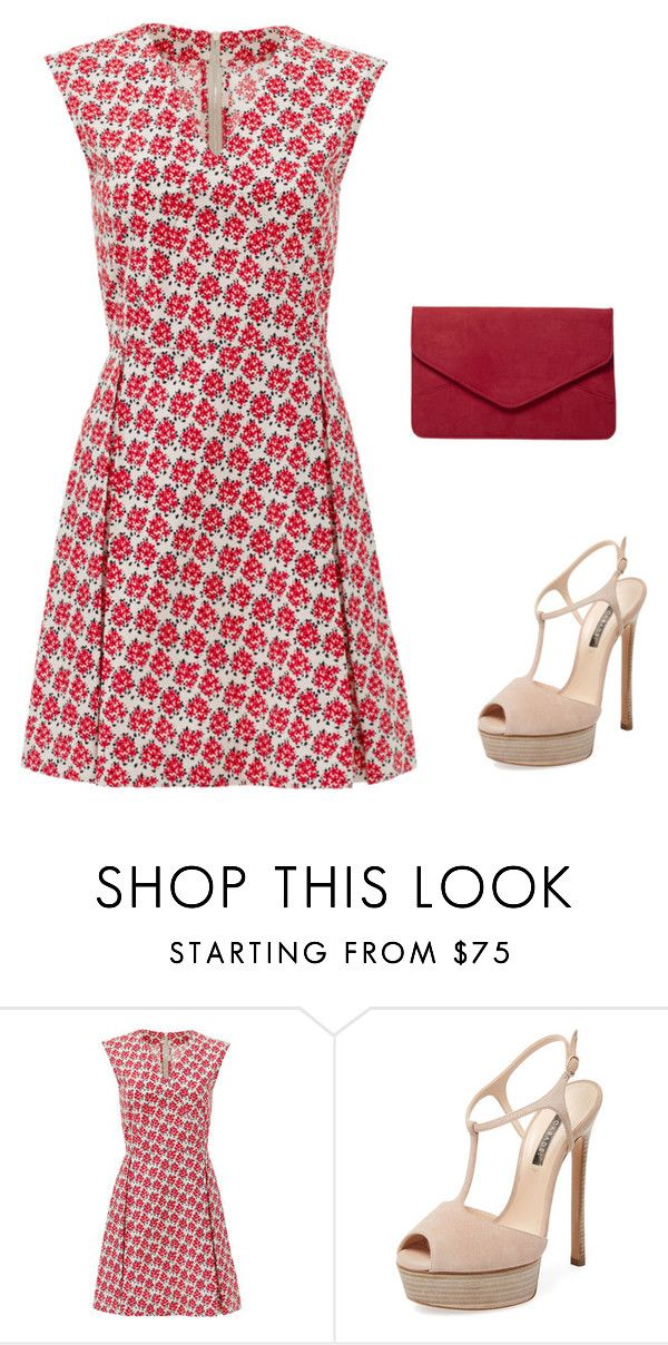"""""""Untitled #1808"""" by carlene-lindsay ❤ liked on Polyvore featuring SUNO New York, Casadei and Dorothy Perkins"""