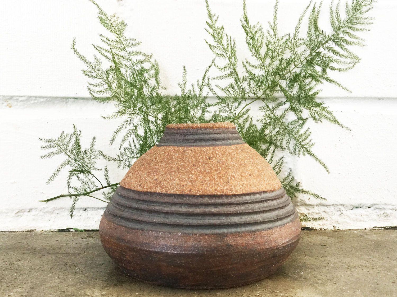 Vintage Studio Pottery Stoneware Etched Vase by 6thAndDetroit on Etsy https://www.etsy.com/listing/225639905/vintage-studio-pottery-stoneware-etched