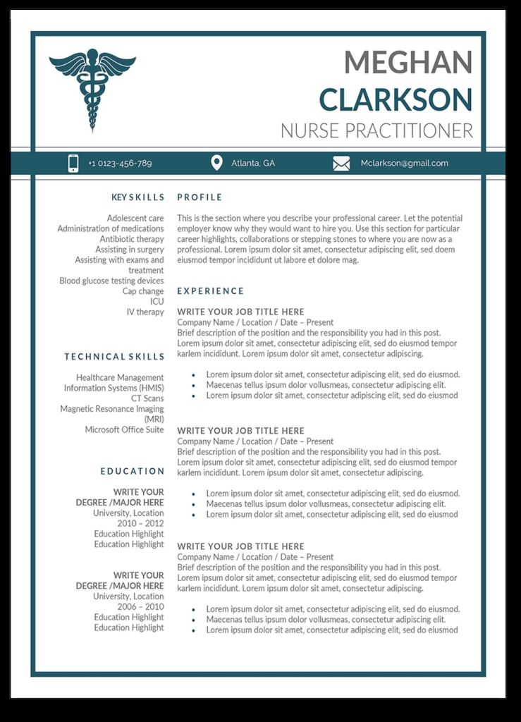 modern np resume fitbowpartco in 2020 Nurse practitioner
