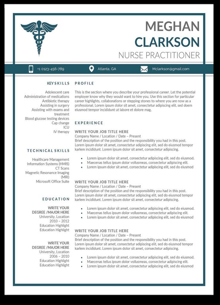 13++ New graduate nurse practitioner curriculum vitae examples ideas in 2021
