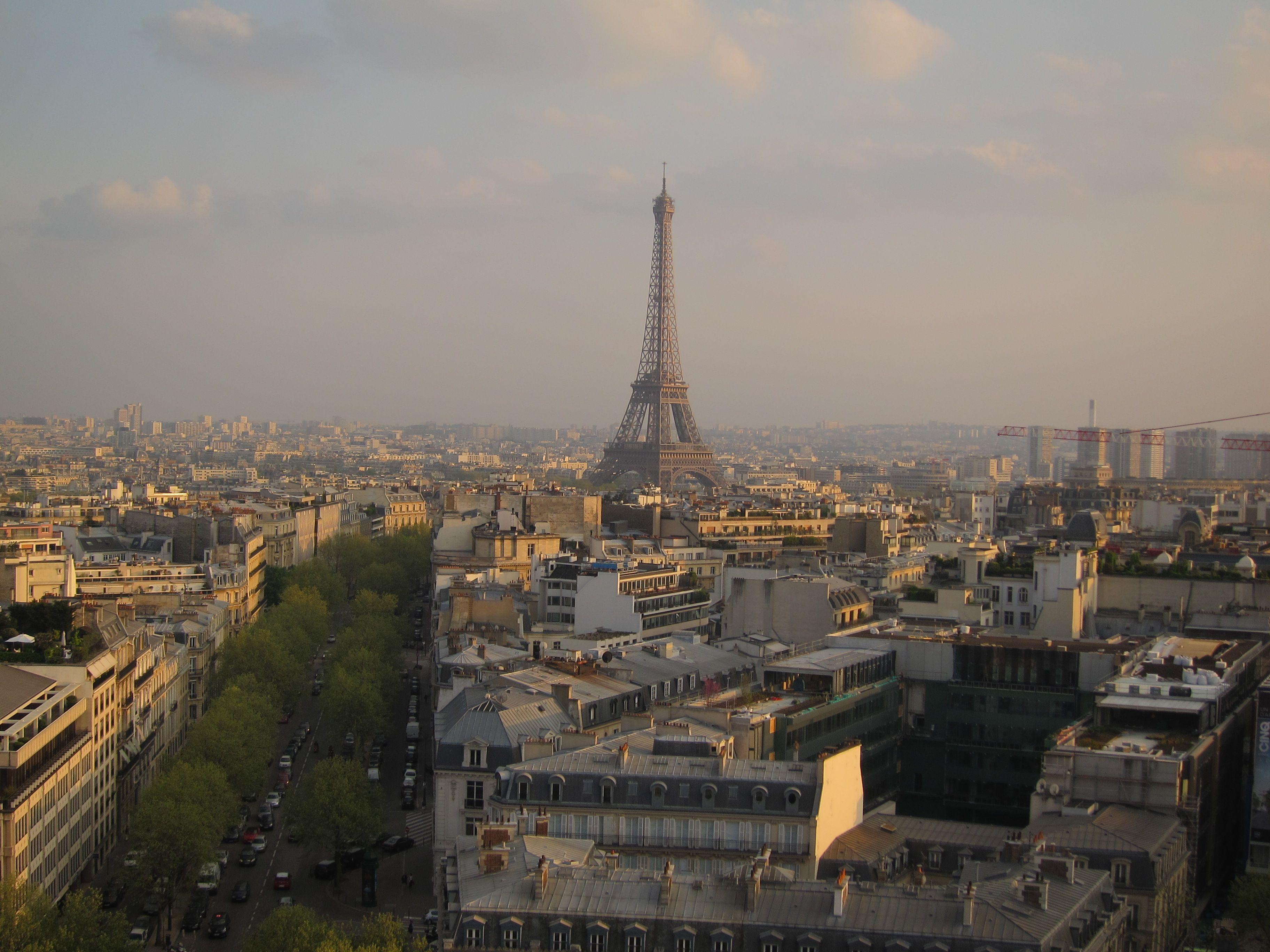 Paris. Torre Eiffel vista desde el Arco del Triunfo