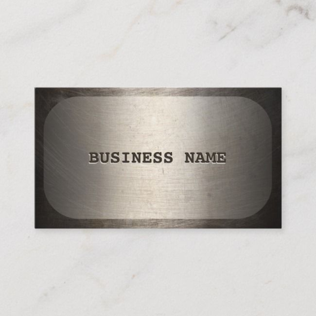 Professional Dog Tag Faux Metallic Zazzle Com Business Card Texture Dog Tags Unique Business Cards