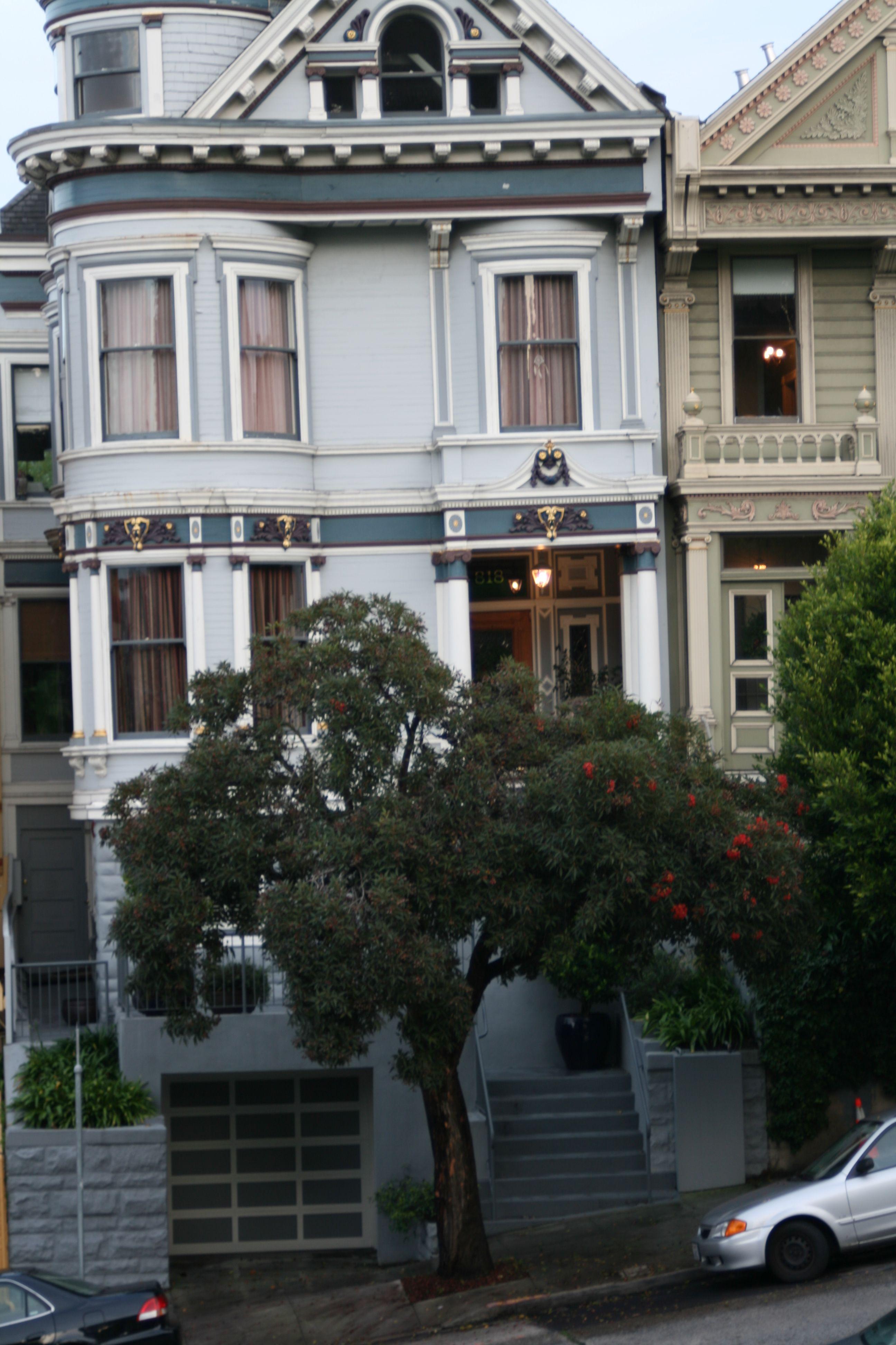 Pale blue Victorian house San Francisco
