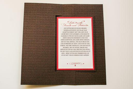 Weihnachtskarte als Twistcard zum Drehen, Sterne, persönlicher Weihnachtstext ©passion4paper