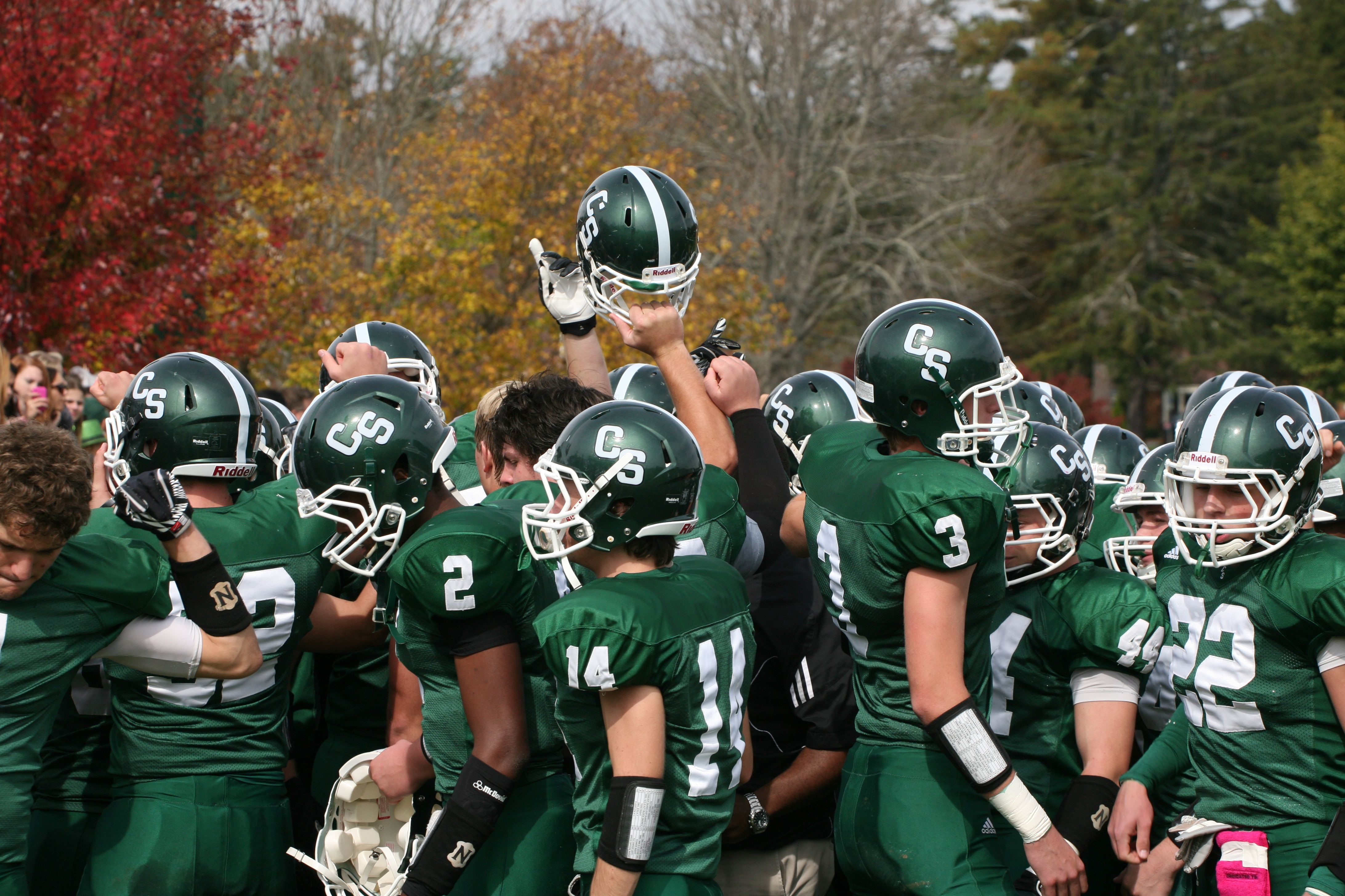 Our varsity football team beat asheville school at the