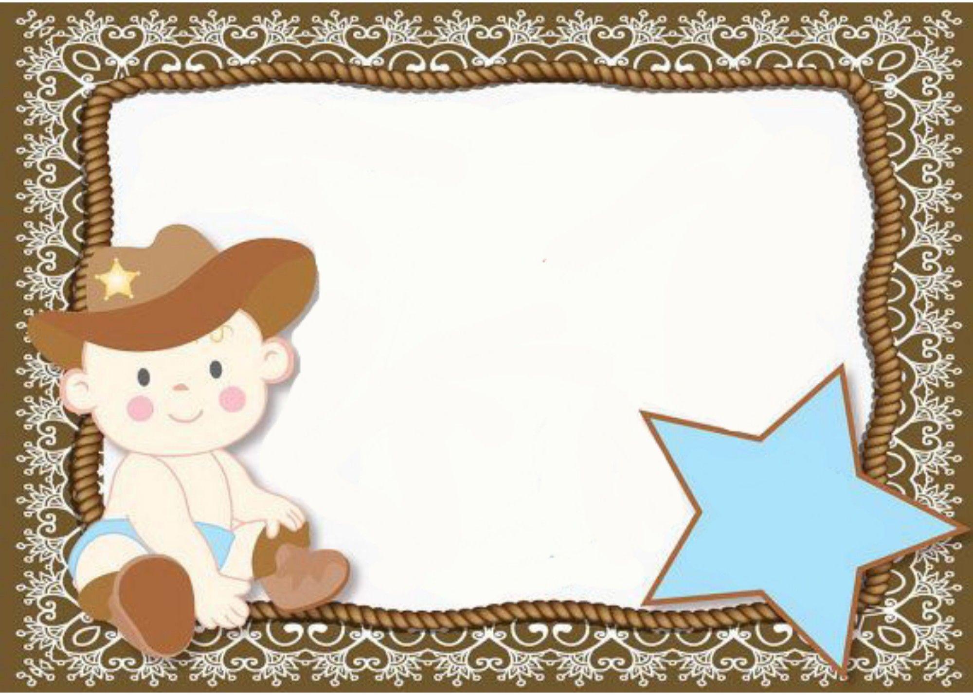 Invitacion Para Baby Shower Vaquero Baby Shower Edible Paper Baby Vaquero