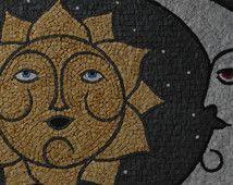 Mosaico Sole Luna Art De La Mosaique Art Mosaique