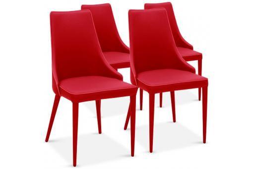 lot de 4 chaises design rouge pagan chaise design pas cher - Lot De Chaises Design Pas Cher