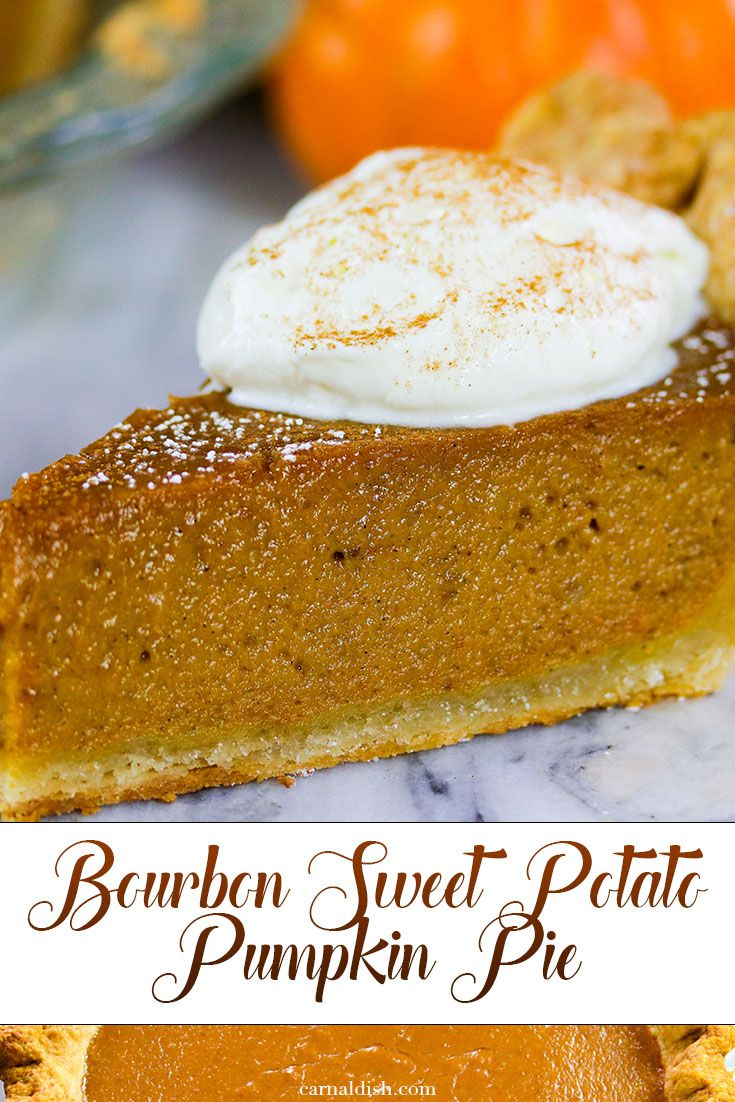 The best of both pie worlds. Sweet potato meets Pumpkin at a bar, and the two share a shot of bourb