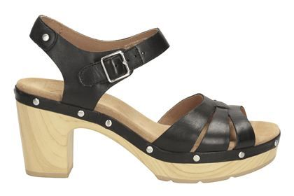 Womens Casual Sandals - Ledella Trail in Black Leather from Clarks shoes