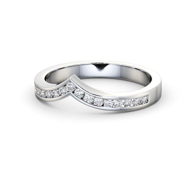 IGI 0.20 Carat Round Diamond Curved Wishbone Half Eternity