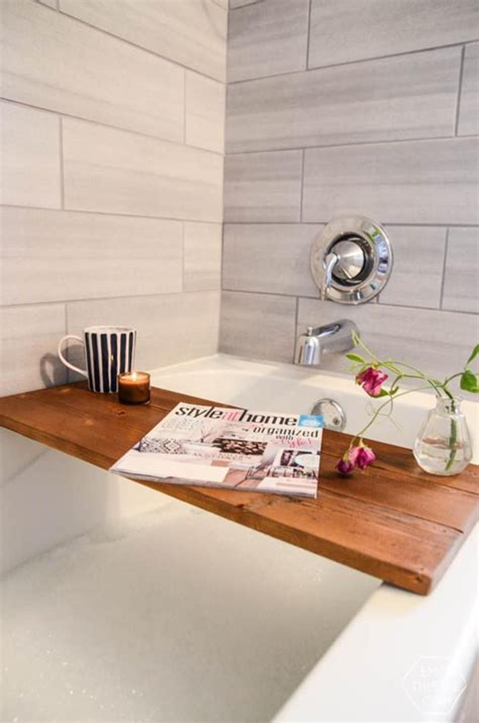 40 Beautiful Bathroom Vanity Tray Decor Ideas Wooden