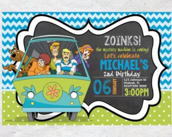 Popular items for scooby doo invites on Etsy Scooby doo party