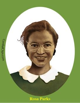 Rosa Parks Realistic Clip Art Coloring Page And Poster