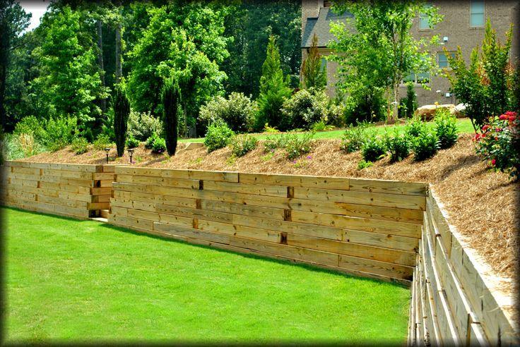 Beautiful shot of retaining wall and perennials | Perennials ...