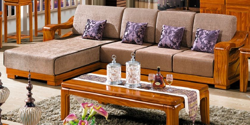 Wooden Sofa Set L Type Furniture Design Living Room Sofas Wooden Sofa Set Living Room Furniture Chairs