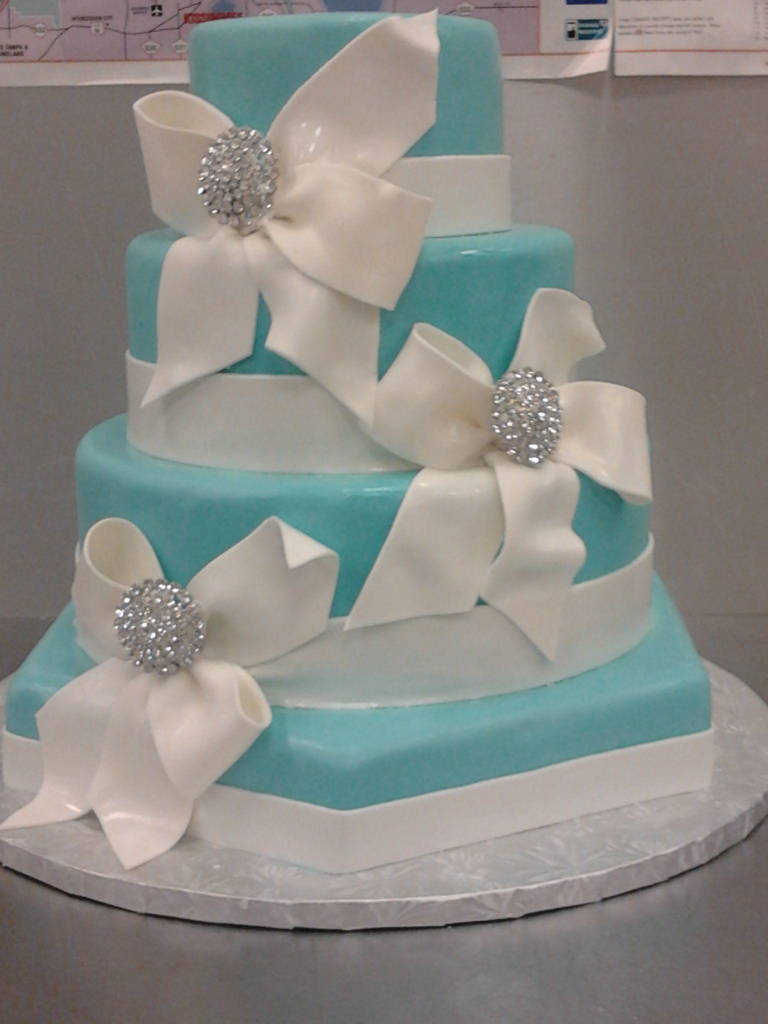 Tiffany Blue Wedding Tiffany Blue Wedding Cake Cakes Wed